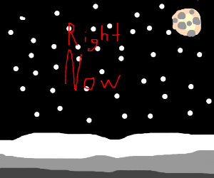 yes it actually snows right now
