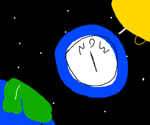 Right now in space