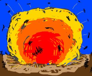 A huge explosion