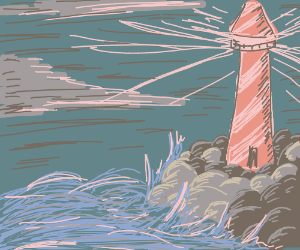 lighthouse on sand