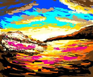 A surfer's sunset