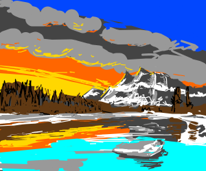 Banff at sunset