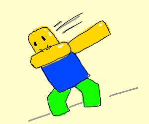 Roblox Man Dabbing Drawing By Linkandorf Drawception