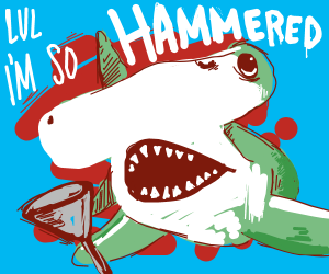 Hammer head shark is very hammered by funnel