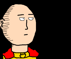 Saitama staring out of the darkness