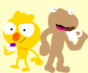 Yellmo and Coffee Monster out for drinks
