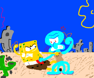 spongebob vs squidward drawception