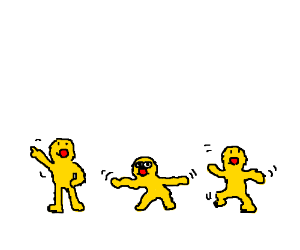 3 yellmos dancing