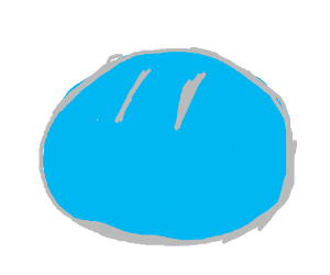 Cute Blue Slime With Curious Look