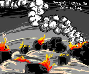 Step 5: carpet bomb the town