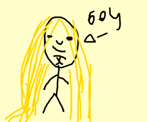 boy with really long blonde hair