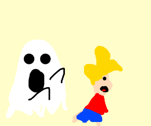 Ghost Scarying Someone