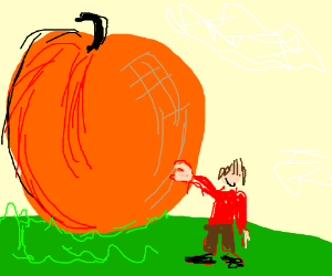 James and his giant peach