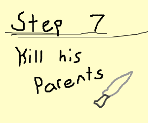 Step 6 force him to step on a lego