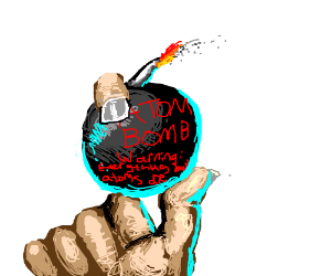 Atom bomb destroys everything but atoms.