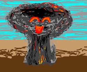 The worlds happiest mushroom cloud