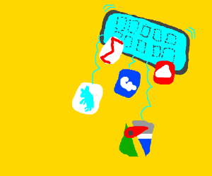 The apps fall out of your phone