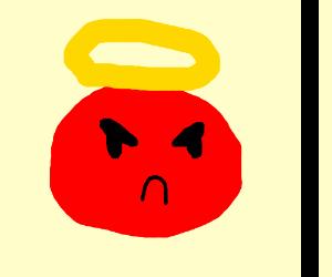 the angery emoji tured into god