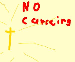dont curse on my christian server