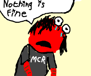 """Emo Elmo tells you that """"Nothing is fine."""" :I"""