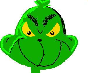 Grinch smirking
