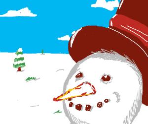 Snowman Smiling
