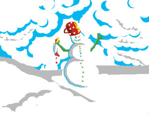 Crazed Snow Man