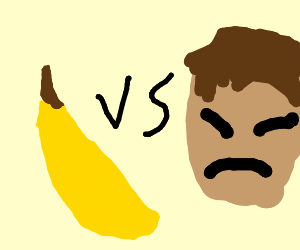banana vs Asian man