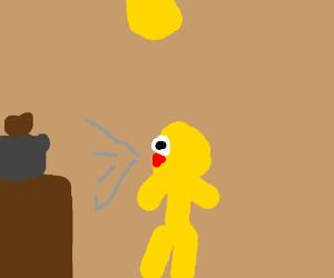 yellmo screaming at toast