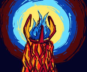 Goblet of blue fire