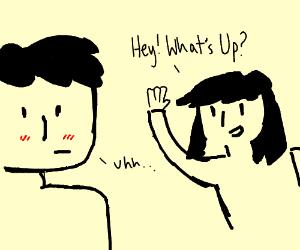 a boy has a crush on a girl