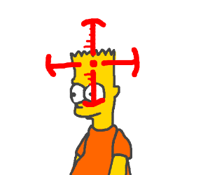 bart simpson shoot out