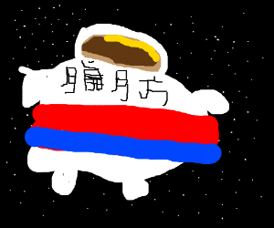 Fat astronaut