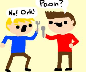 "Man demands ""No more poon"""