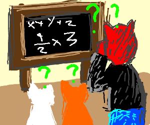 very hard mathematical task with cats & satan