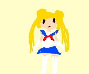 A simplistic sailor moon