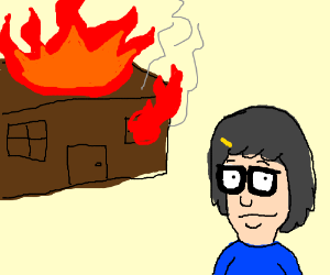 Tina Belcher sets house on fire