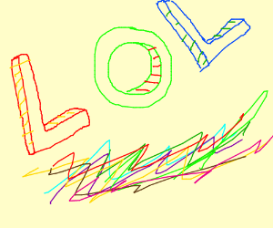 Colorful LOL sign