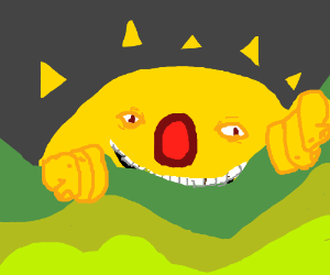 yellmo becomes the sun