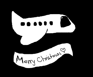 flying merry christmas message (on  airplane)