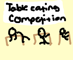 table eating competition
