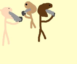 Race eating saws