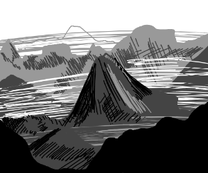 Aesthetic Tumblr Mountains Drawing By Ectopup Drawception