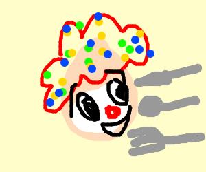 Clown but it's an egg