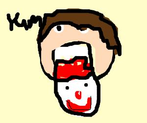 eat a clowns head