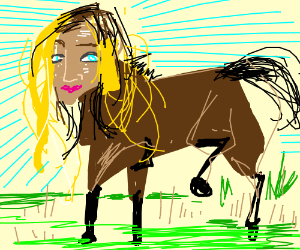 lady faced horse