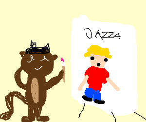 Artistic gorilla