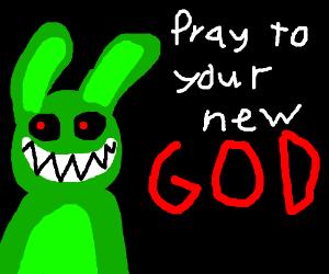 green rabbit god