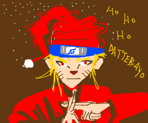 naruto disguised as santa