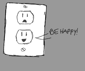 Y have sad outlets when u can have happy ones?